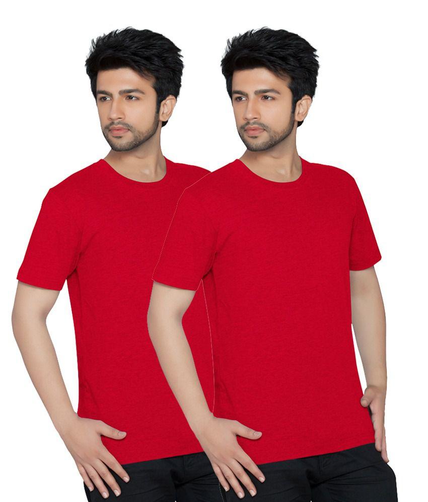 Texfit Multicolor Cotton Round Neck T Shirt - Pack Of 2