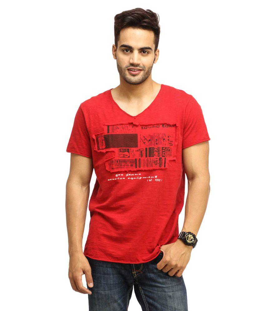 Gesture Red Cotton T-shirt
