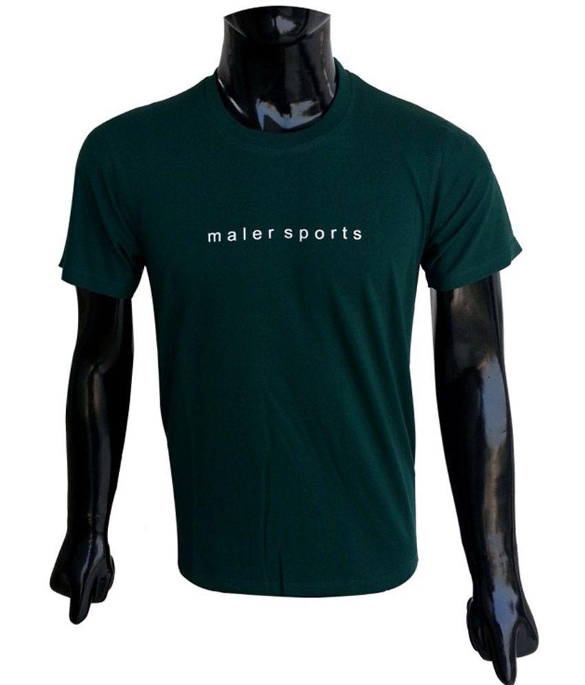 Msports Bottle Green Round Neck T Shirt