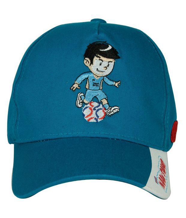 Orosilber Blue Cotton Baseball Cap Men