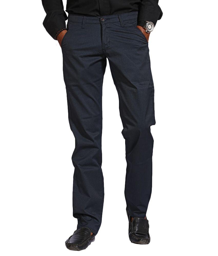 Urban Navy Blue Slim Formals
