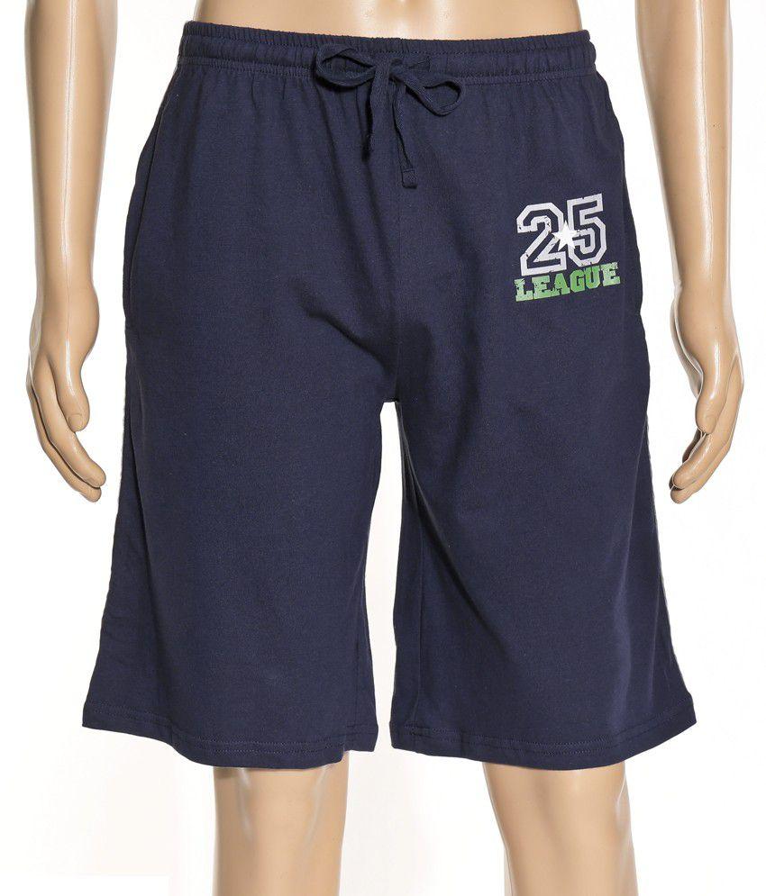 Hanes Hanes Blue Cotton Solids Shorts