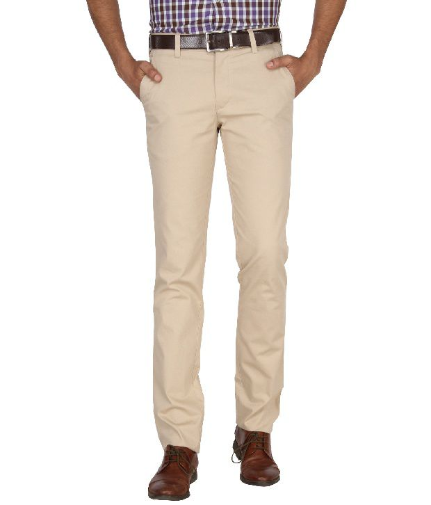 Jadeblue Beige Formal Slim Fit Shirt