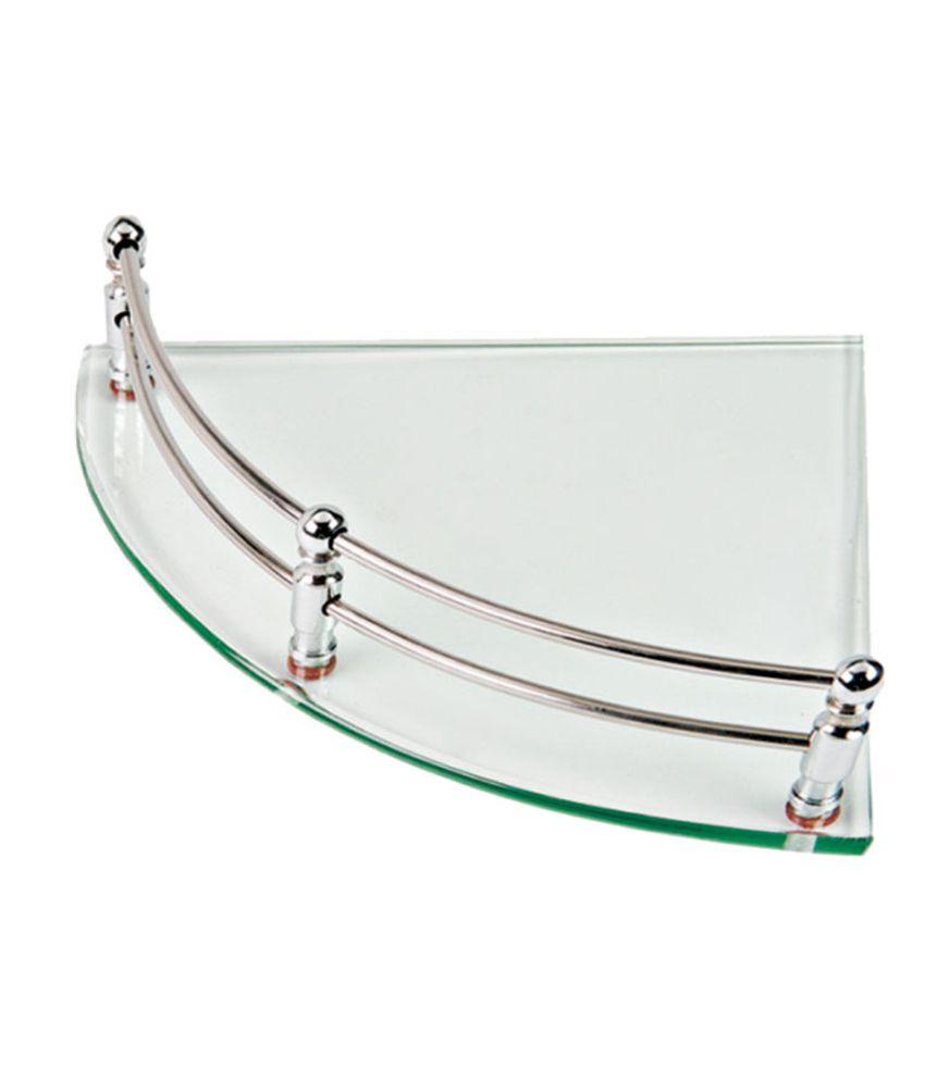 Buy Kt Hardware Solutions 12 Inch X 12 Inch Corner Glass Shelf ...