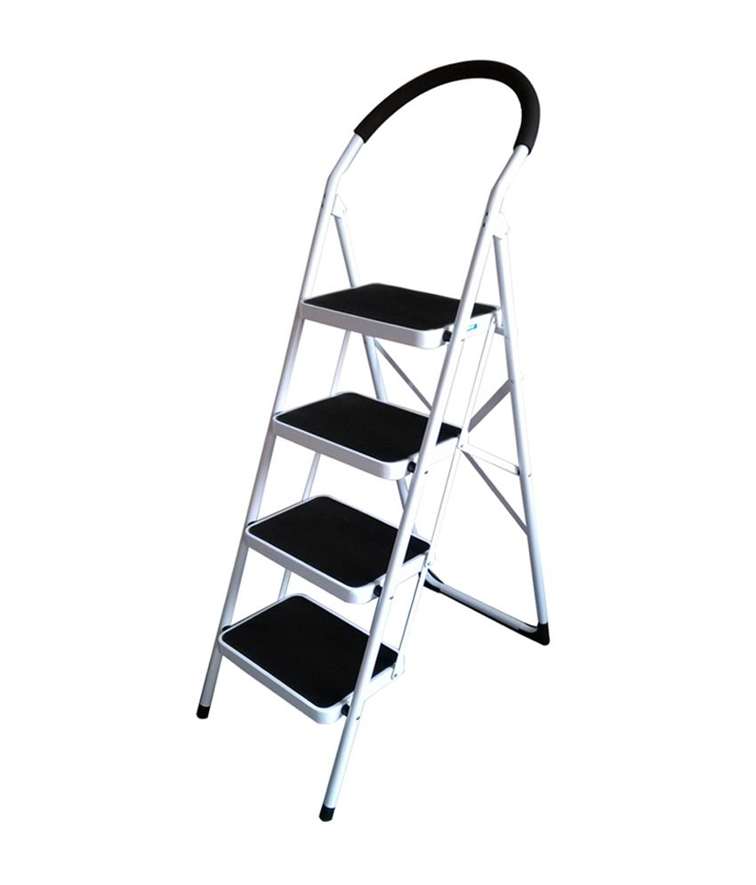 Superb Nilkamal Vesta 4 Step Ladder Black White Cjindustries Chair Design For Home Cjindustriesco