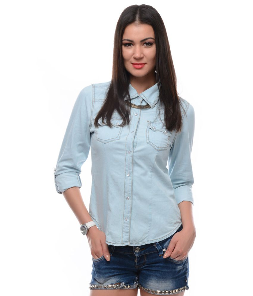 Samayra Light Denim Solid Shirt
