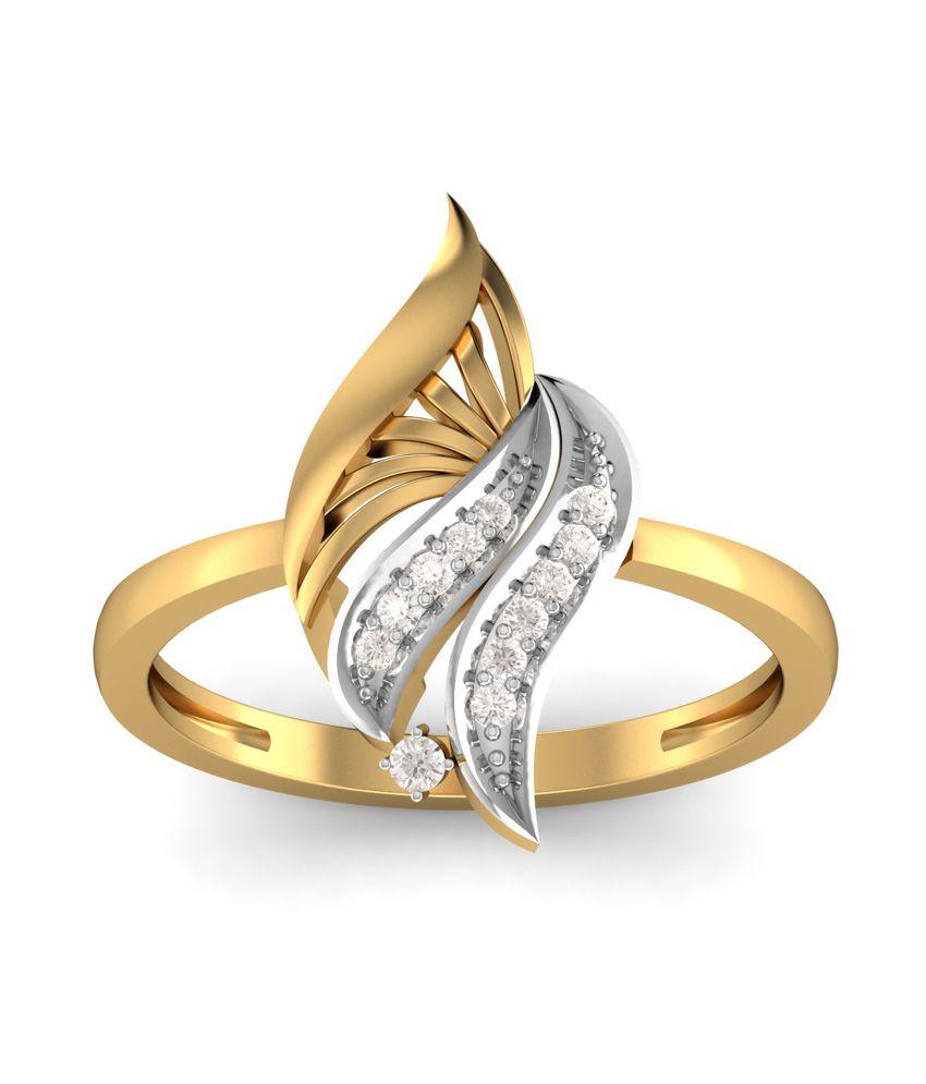 Kuberbox 14k Gold Diamond The Lady Love Ring