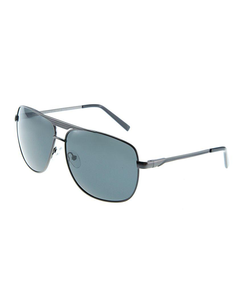 Polar Solar PS-1061-C2_M-2 Gray Large Men Square Sunglasses