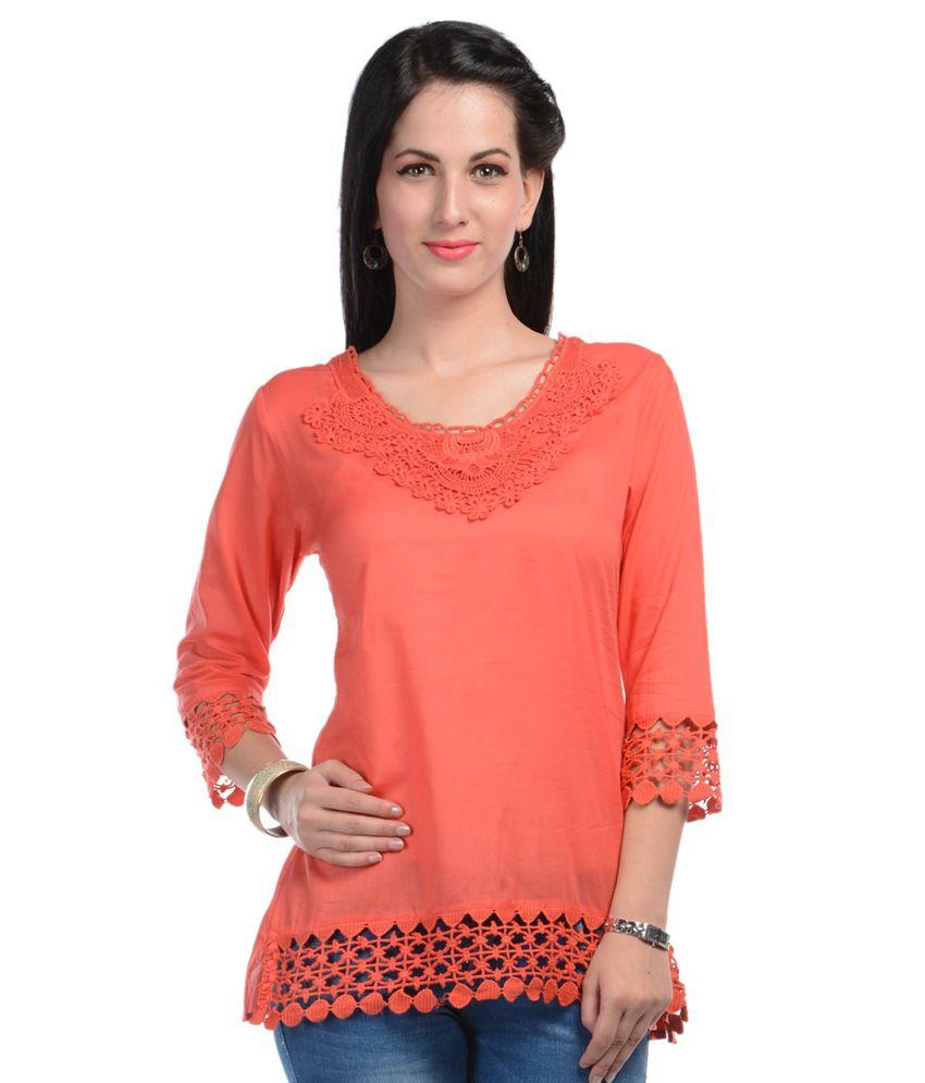 U F Orange Neck Design Top Buy U F Orange Neck Design