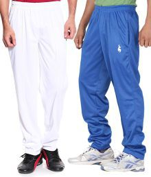 Posh 7 White Polyester Trackpants