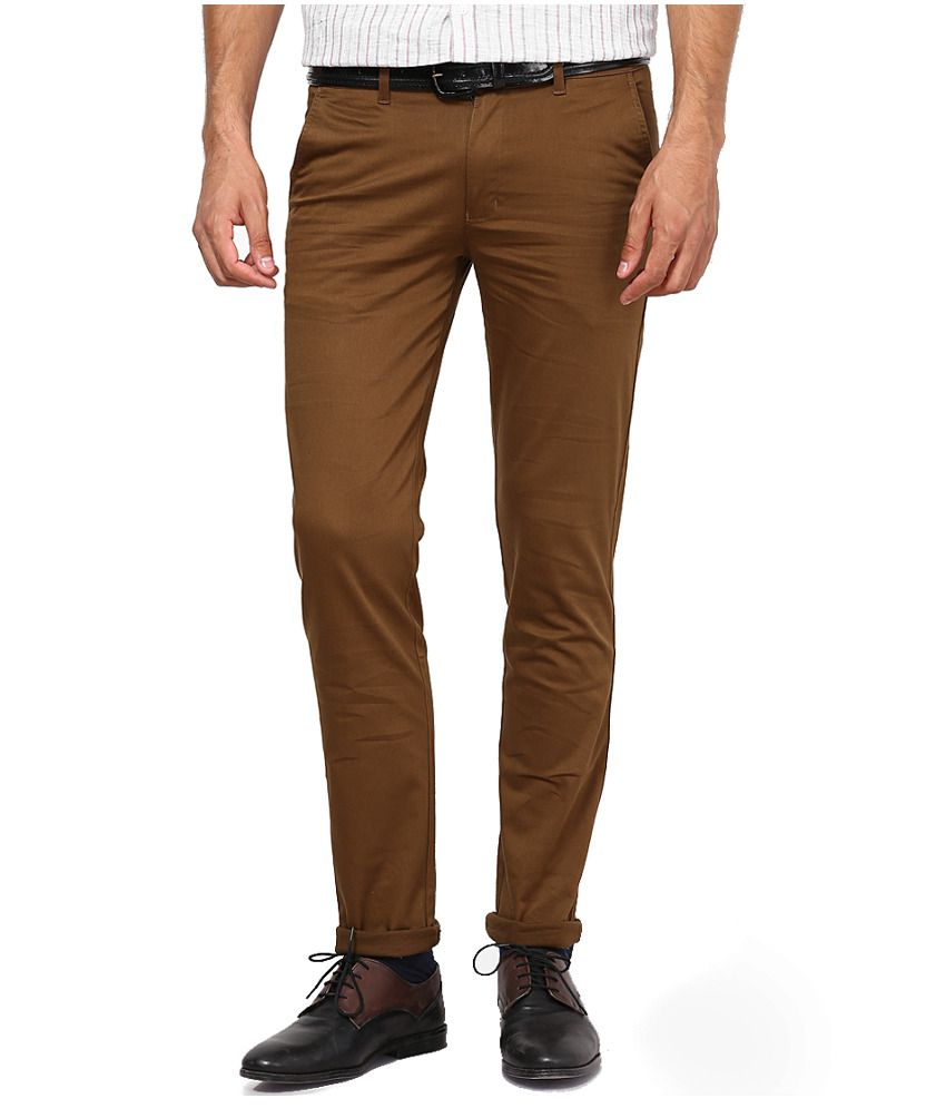 Inspire Clothing Inspiration D.Khaki Slim Casual Chinos