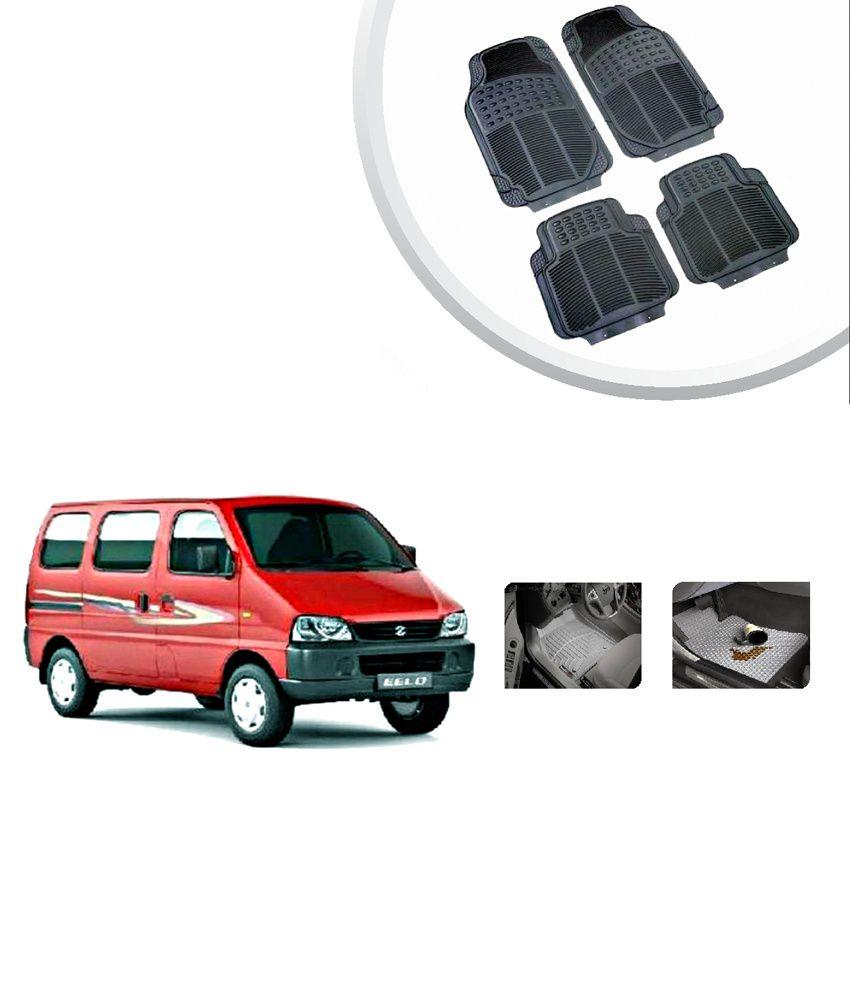 Rubber floor mats minivan - Autosun Maruti Eeco High Quality Rubber Floor Mats Black Set Of 4