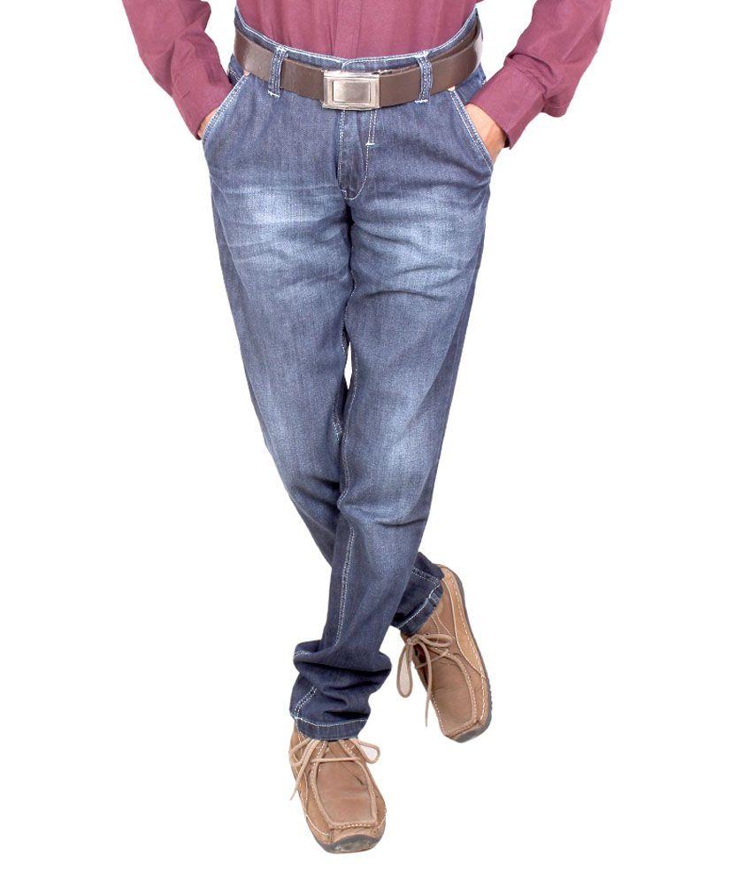 El'monde Blue Narrow Fit, Low Waist Denim Jeans