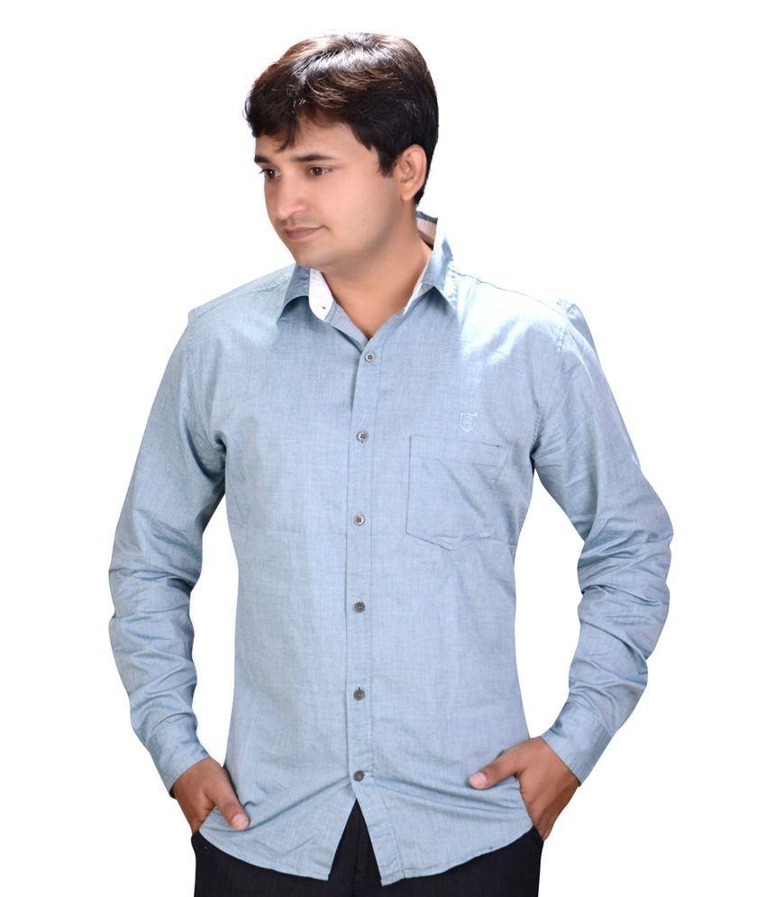 Speak Teal 100 Percent Cotton Slim Solids Formal Men-shirt