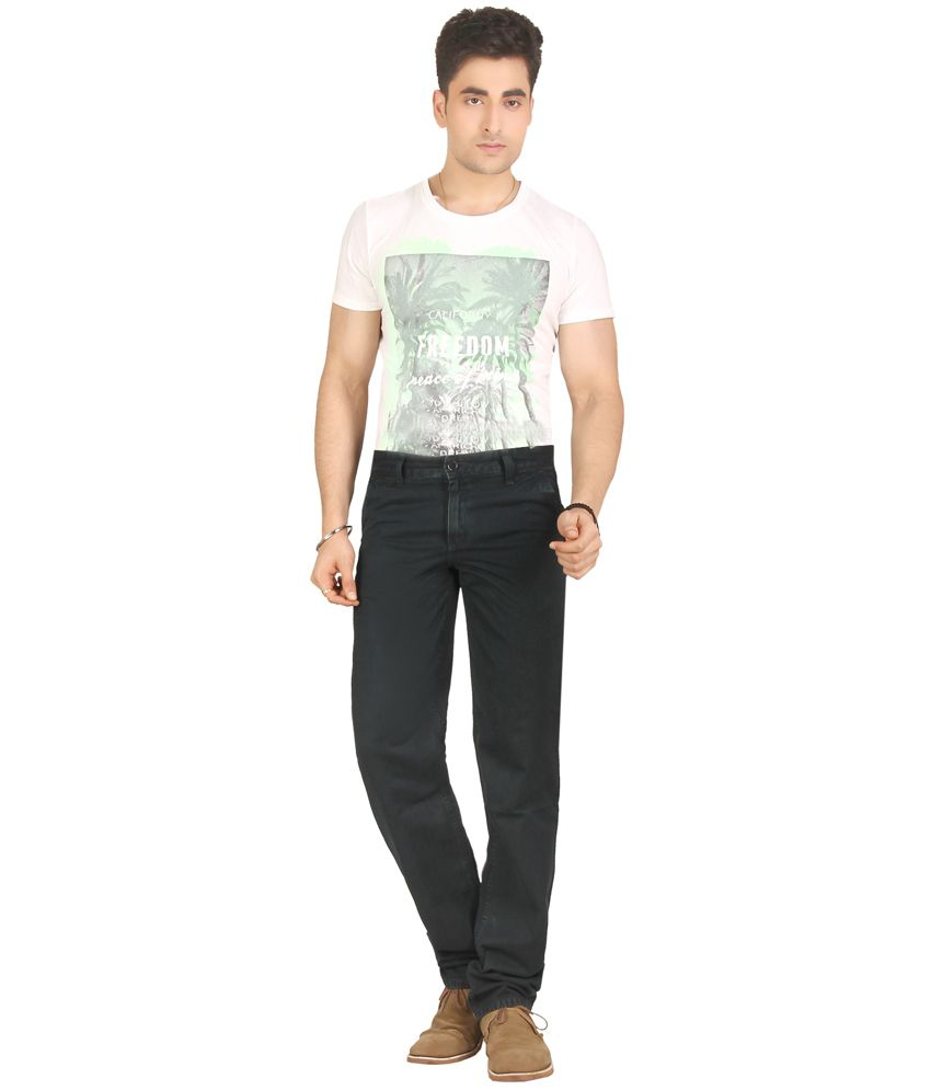Warewell Green Regular Fit High Rise Denim Jean For Men
