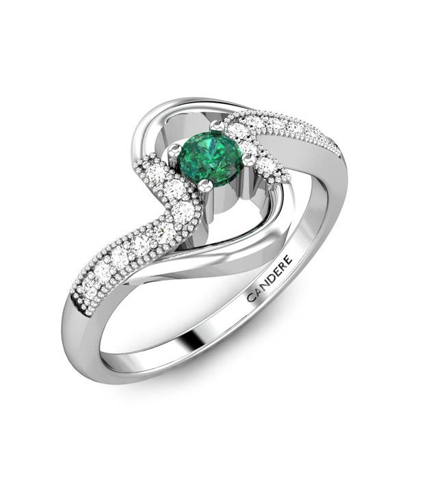 candere shanas emerald ring white gold buy rings