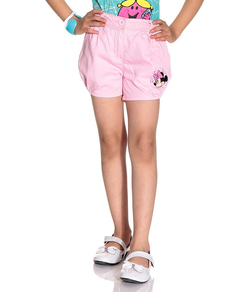 Disney Mickey Light Pink Color Shorts For Kids