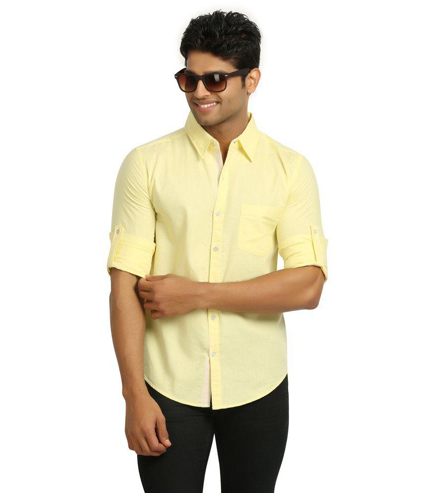 Nick Amp Jess Mens Lemon Yellow Linen Shirt Buy Nick