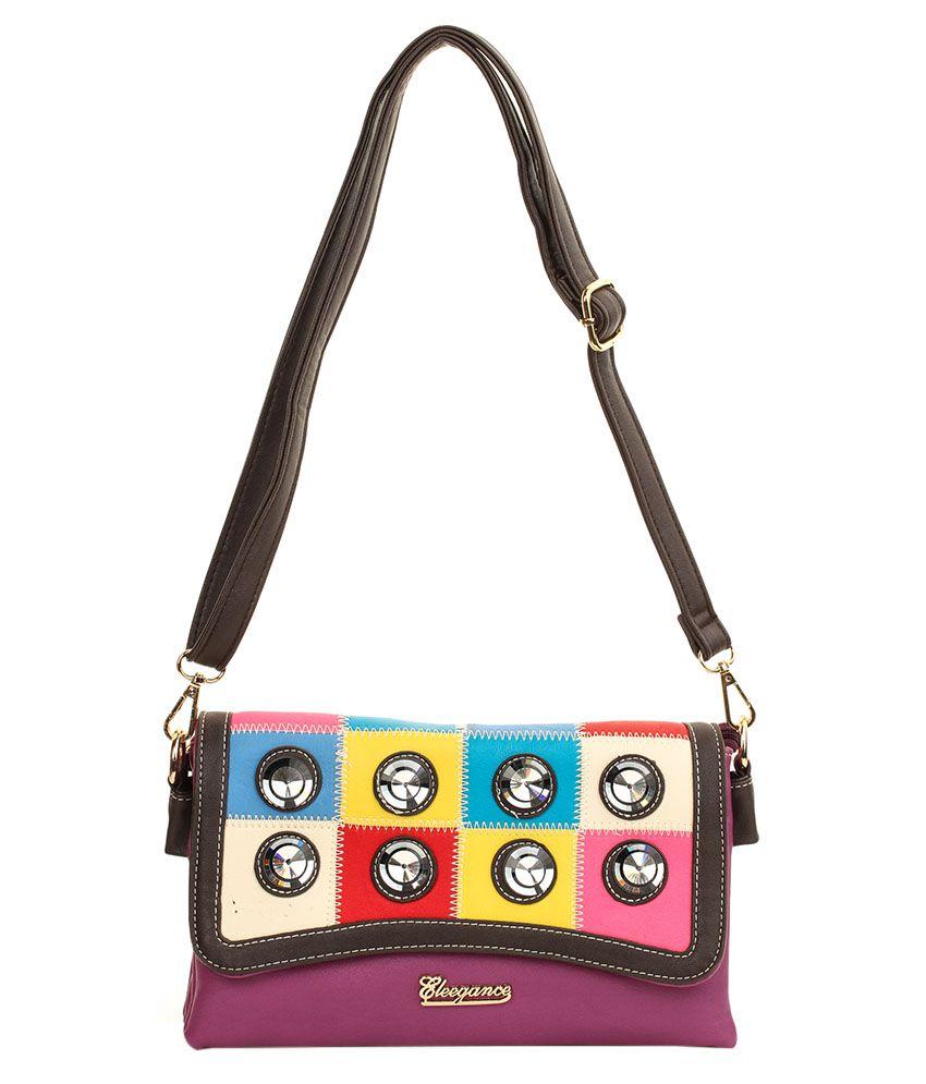 Eleegance 328 Purple Sling Bags