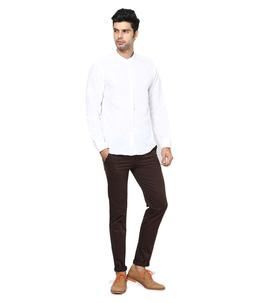 Inspire Clothing Inspiration Brown Slim Casual Chinos