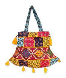 Rastogi Handicrafts Rajasthani Handicrafts Multi Colour Patch Work Hand Bag