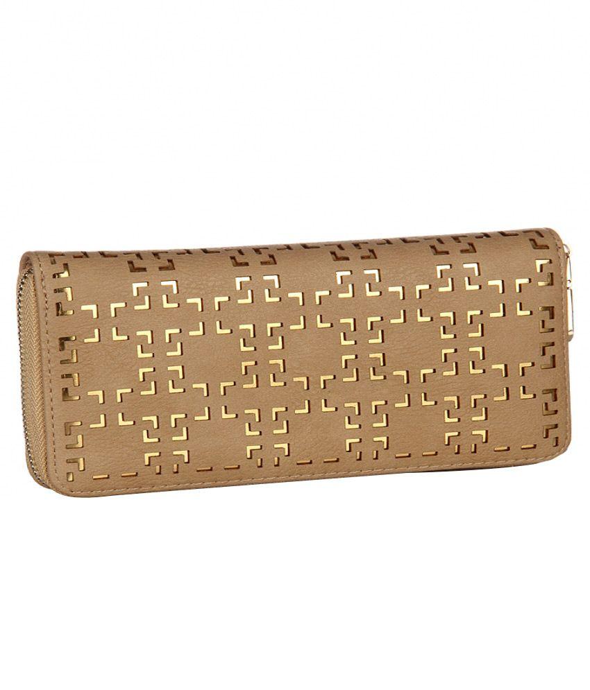 Addons Non Leather Brown Women Regular Wallet