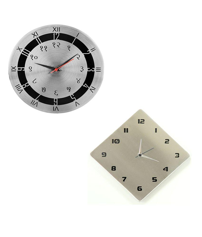 Cosmosgalaxy Stylish Wall Clock Combo Buy 1 Get 1 Free Buy