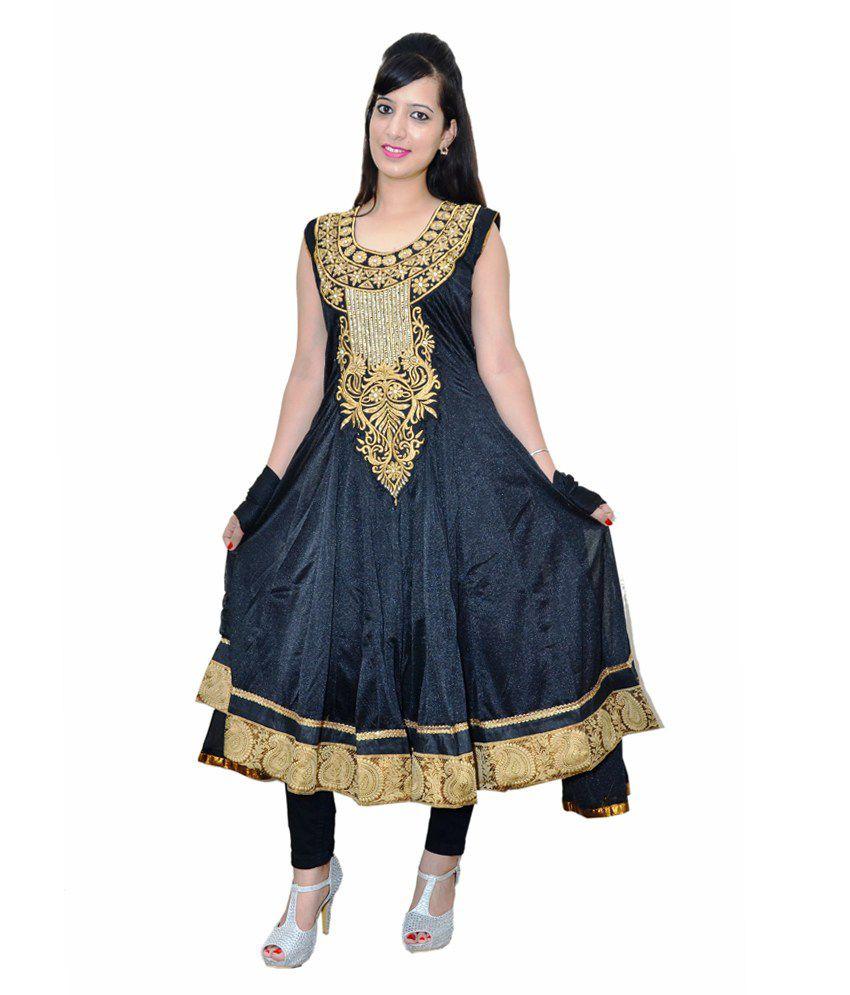 The Fantacy Collection Black Party Net A Line Dress