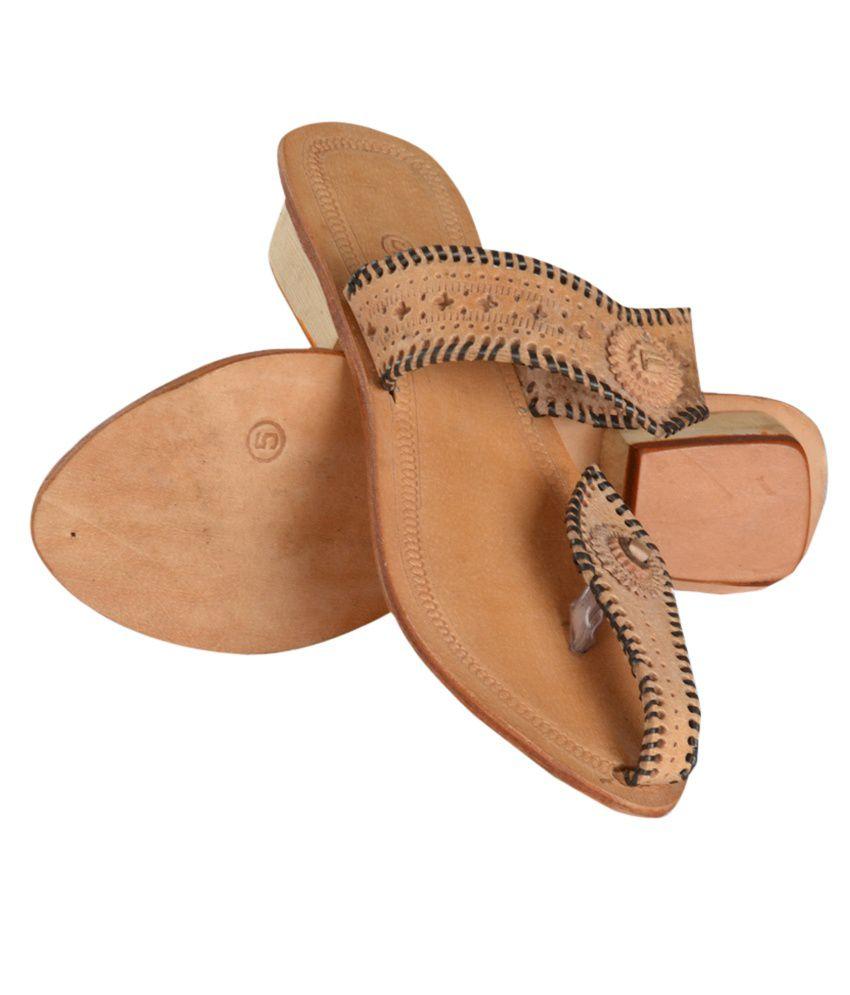 Tip Top Footwear Flat Brown Slippers