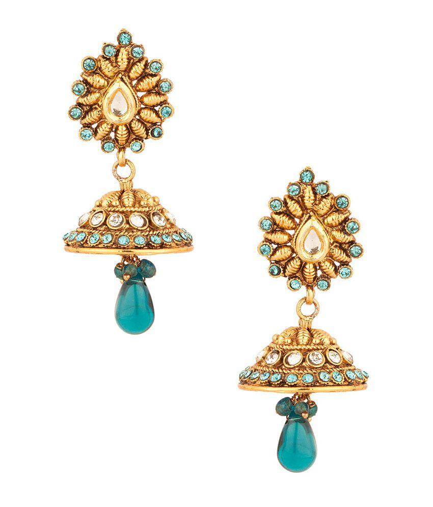 Voylla Shimmering Pair Of Jhumki Earrings