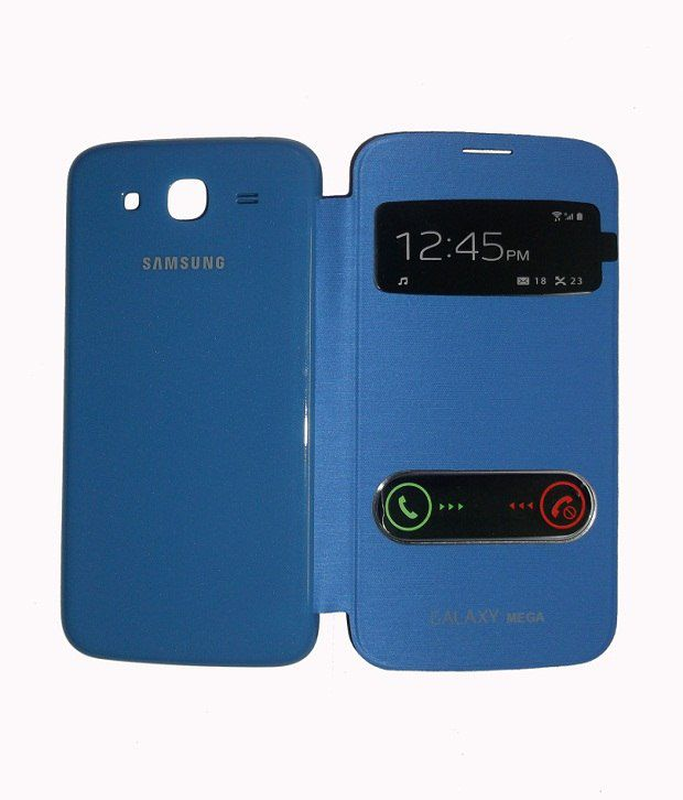 online retailer e9484 ecaa9 Jma S-view Flip Cover Case For Samsung Galaxy Mega 5.8 I9152 - Blue