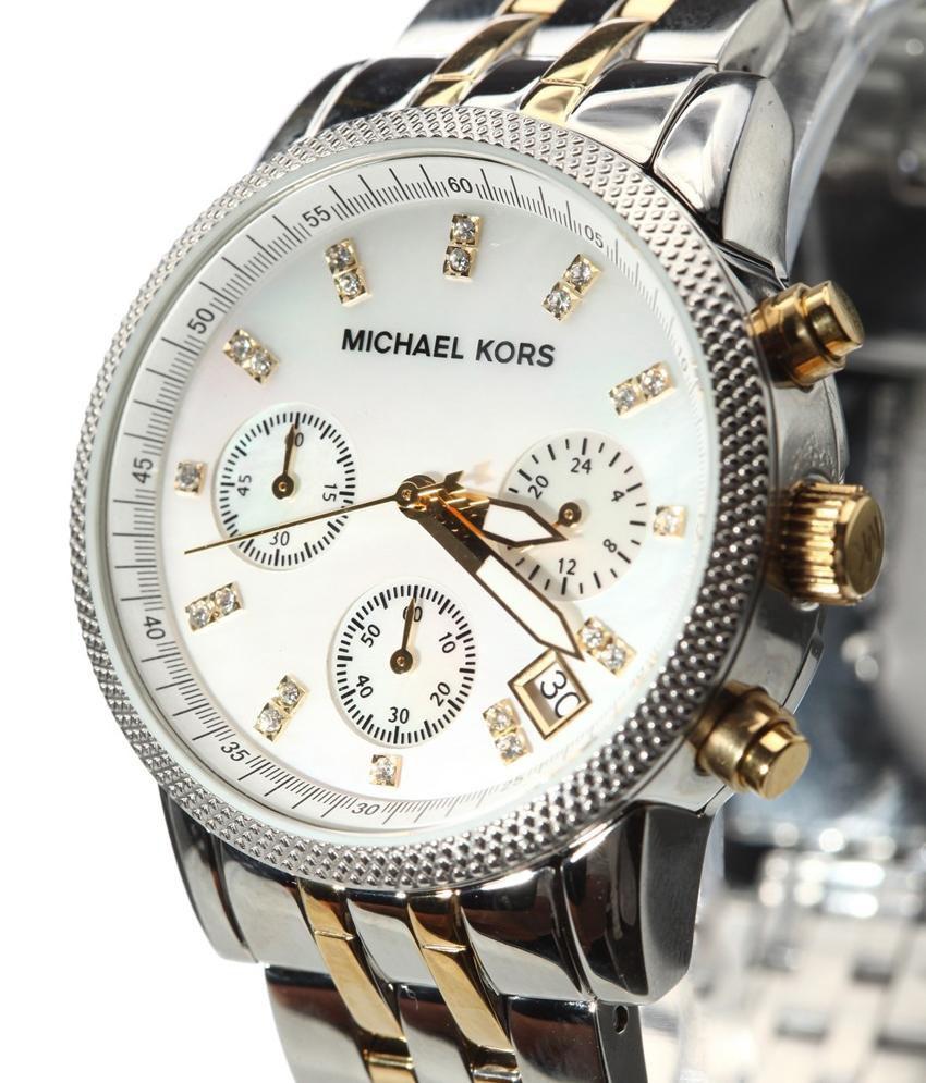 81afca260c32 Michael Kors Women S Ritz Two-Tone Bracelet Watch 38Mm Mk5057 Price in India   Buy Michael Kors Women S Ritz Two-Tone Bracelet Watch 38Mm Mk5057 Online at  ...