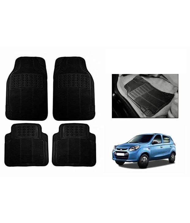 Speedwav Black Rubber Car Floor / Foot Mats