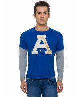 Alcott Alcott Blue Cotton T-Shirt (Multicolor)