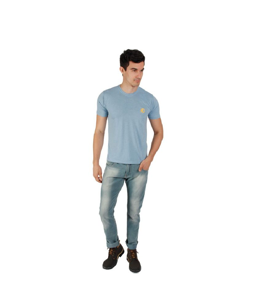 Kapapai Blue Cotton T-Shirt