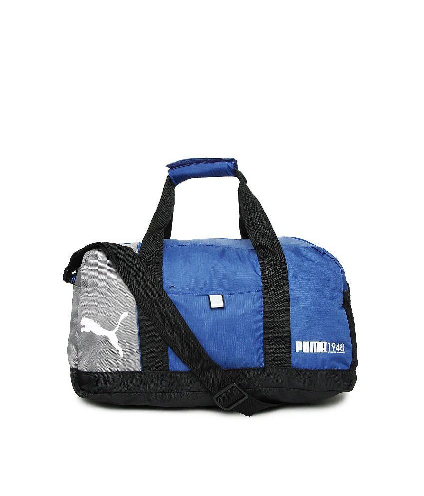 d8093c23a3c Puma Unisex Fundamentals (7257402-x) Blue & Black Duffle Bag - Buy Puma  Unisex Fundamentals (7257402-x) Blue & Black Duffle Bag Online at Low Price  - ...
