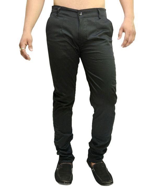 Nation Mania Black Cotton Trouser