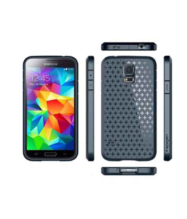 online store 5ba79 e708a Spigen Samsung Galaxy S5 Case Cover CAPSULE Ultra Fit (Clear Capsule) with  Free Spigen Screen Guard