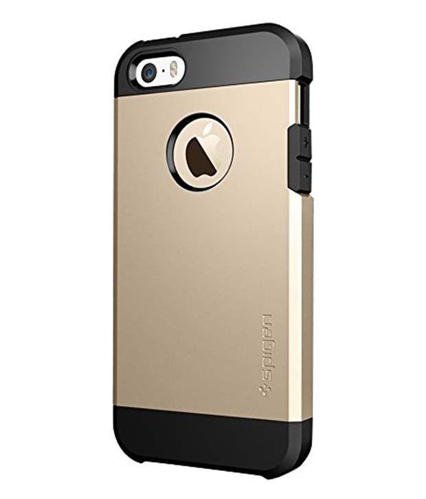 online store 2e08f 4e621 Spigen iPhone 5S 5 Case Cover Tough Armor (Champagne Gold)