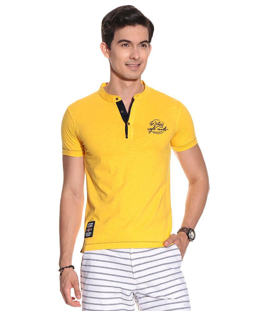Mens T-s Cotton S-j A-s H-s Henley T-shirts T-shirt