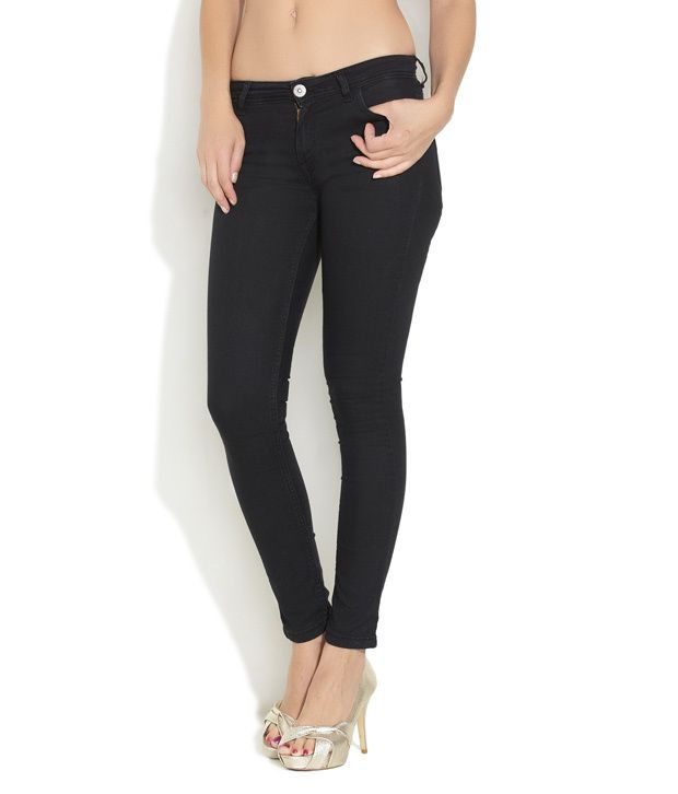 84eec9324d5 Buy Jealous 21 Black Essential Super Skinny Jeans Online at Best Prices in  India - Snapdeal