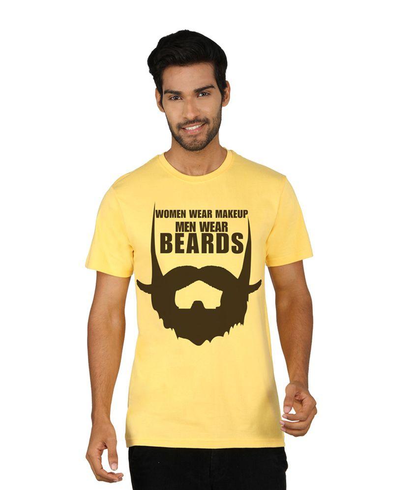 Say It Loud Yellow Half Cotton Round T-shirt