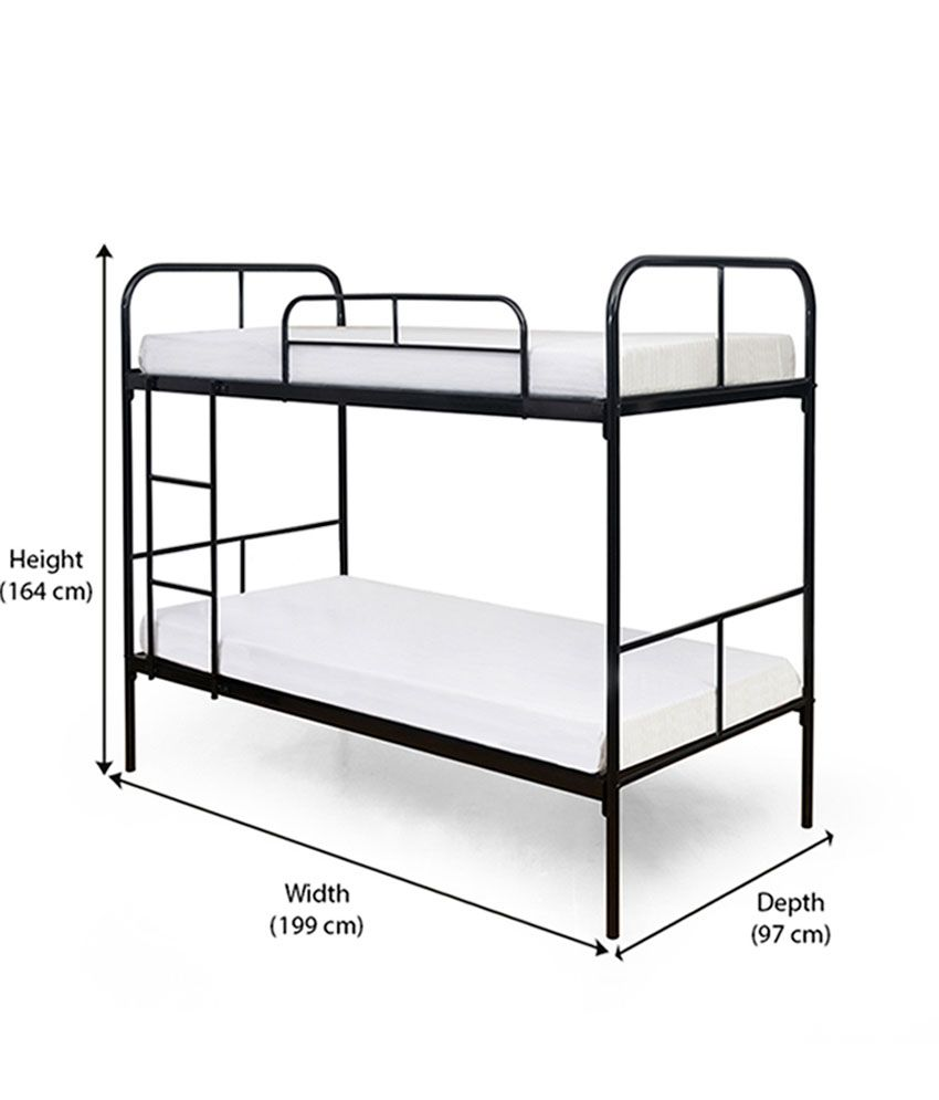 Home Twin Over Full Metal Bunk Bed With Set Of 2 Mattresses Buy
