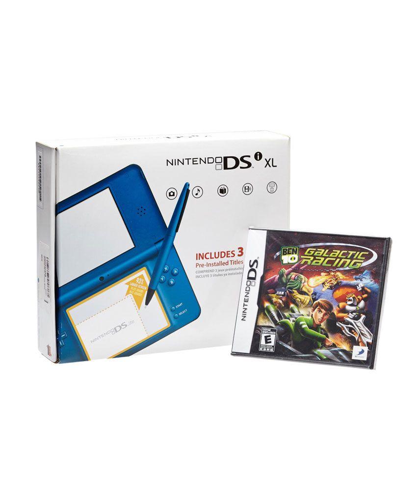 Nintendo DSi XL Portable Handheld Console (Blue) (Free Game: Ben 10 Galactic Racing)