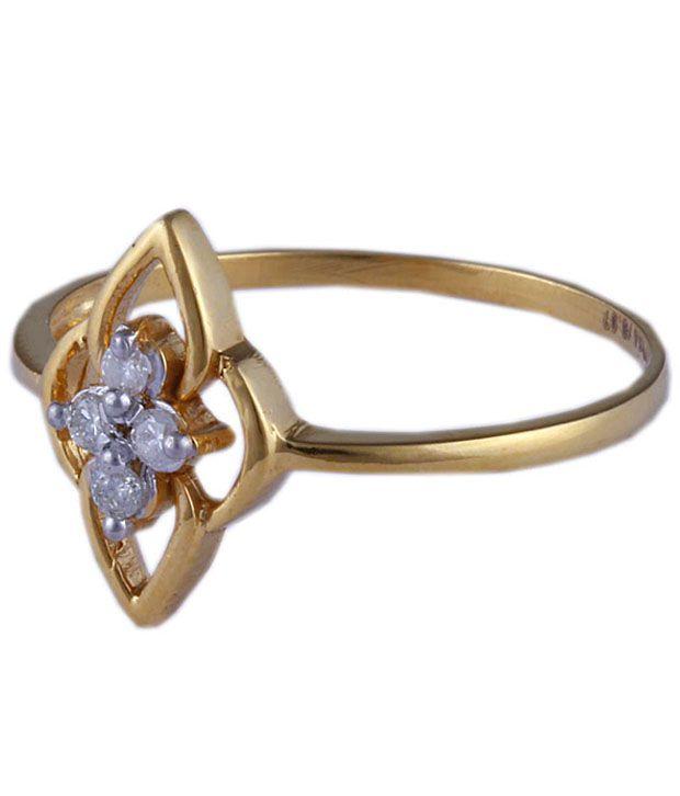 Santushti Jewels Remarkable Floral 14kt Gold Diamond Ring