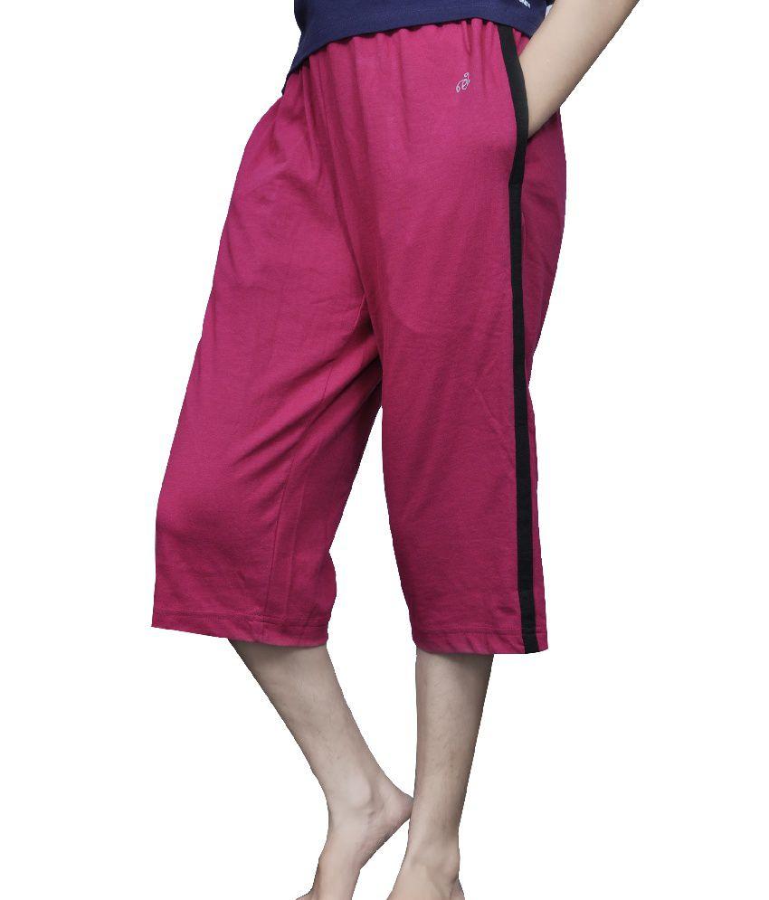 Jockey Pink And Grey Cotton Pajamas Combo