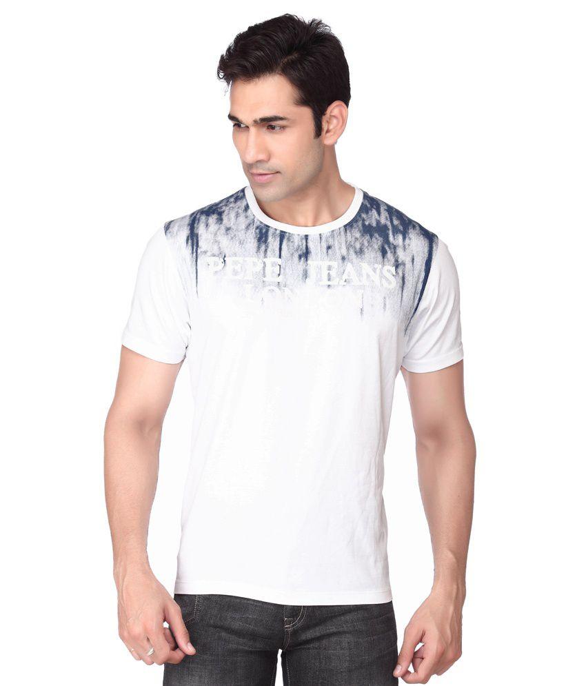 Pepe Jeans London White Cotton T-shirt