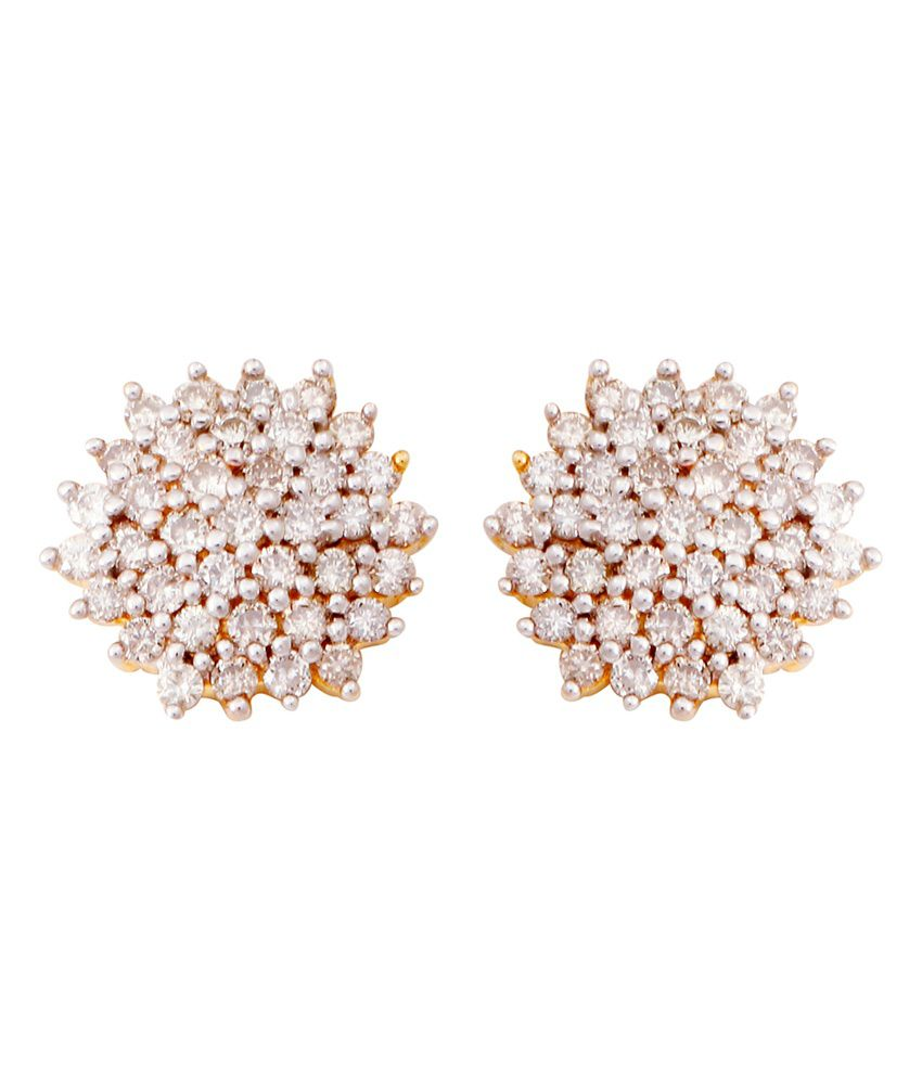 eead982b4 Sapphire 14kt Gold Plated Traditional Diamond Studs Earrings: Buy Sapphire  14kt Gold Plated Traditional Diamond Studs Earrings Online in India on  Snapdeal