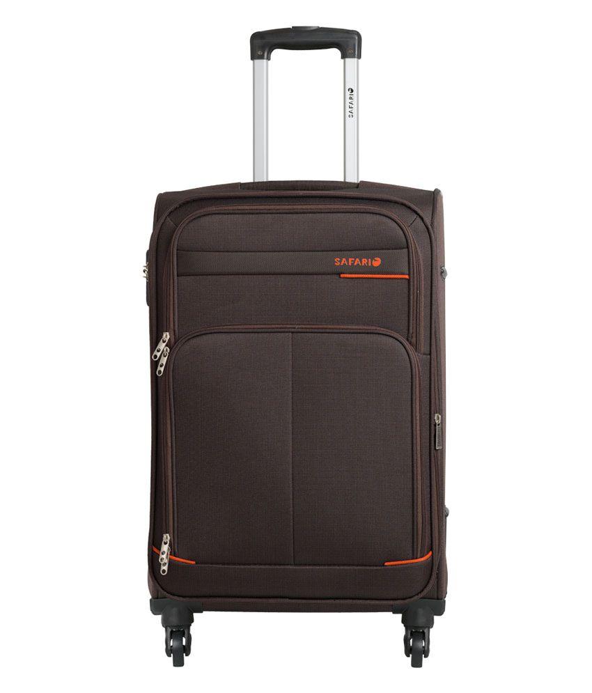 Safari Maasaimara Brown Large 4 Wheel Luggage Trolley