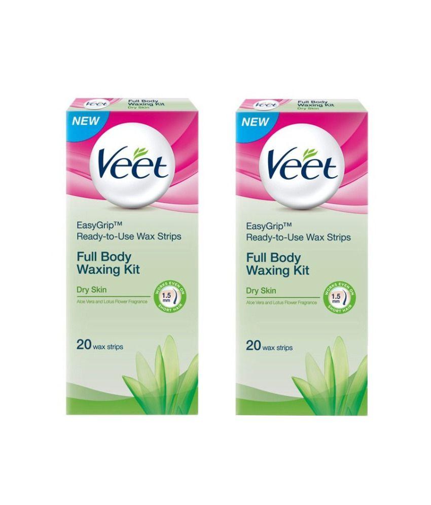 Veet Full Body Waxing Kit for Dry Skin  - 2 x 20 Strips